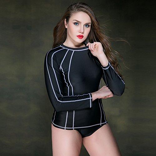 Mme summer maillot de western / Mme shirt / / / campagne seule chemise à manches / plongée sous-maillot-YU&XIN Black