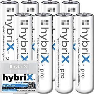 8er Pack Kraftmax hybriX pro Set - 8x Micro AAA Hybrid Akkus in Box - Die Neue Generation von Hybrid Akku Batterien