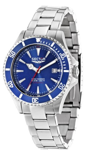 Sector Women's Quartz Watch with Blue Dial Analogue Display and Silver Stainless Steel Bracelet R3253250501
