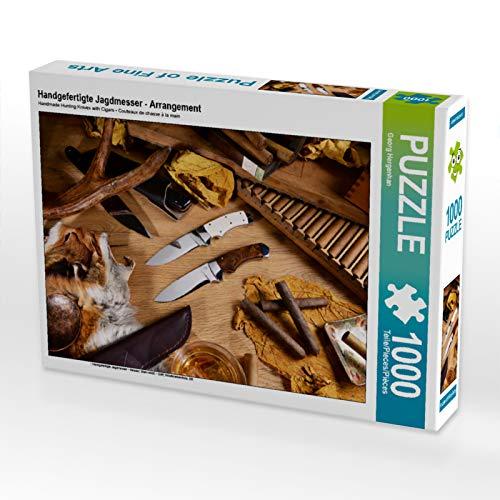 CALVENDO Puzzle Handgefertigte Jagdmesser - Arrangement 1000 Teile Lege-Größe 64 x 48 cm Foto-Puzzle Bild von Georg Hergenhan