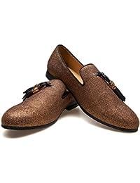 205f729df900 Men s Vintage Velvet Metal Cross Loafers Shoes Slip-on Loafer Smoking  Slipper