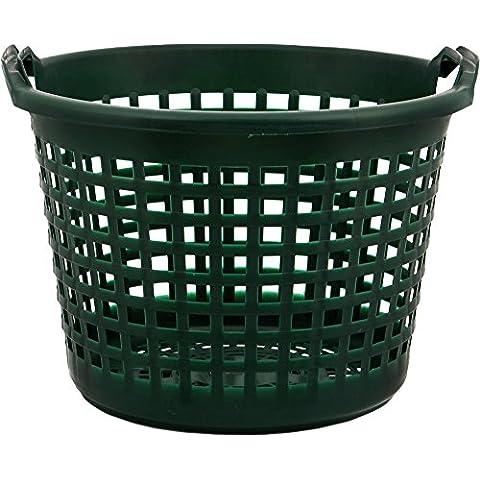 Jardín cesta de plástico verde 25kg