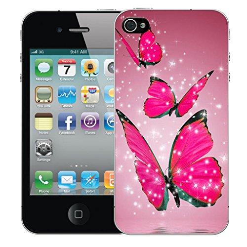 Mobile Case Mate iPhone 5 clip on Dur Coque couverture case cover Pare-chocs - floral signature Motif floating butterflies