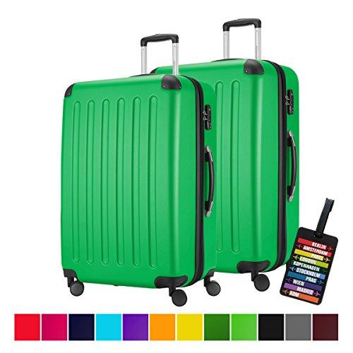 HAUPTSTADTKOFFER--2er-Hartschalen-Kofferset--128-Liter-ca-75-x-47-x-35-cm--SPREE-1203--in-verschiedenen-Farben-DESIGN-KOFFERANHNGER