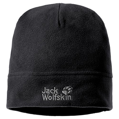 Jack Wolfskin Real Stuff Unisex Mütze, Black, One Size, 19590