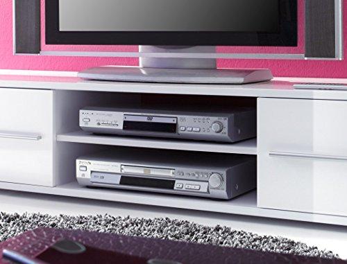 Lowboard Spiros 175x32x47 cm weiß Hochglanz TV-Board Unterschrank TV Board TV Bank - 2