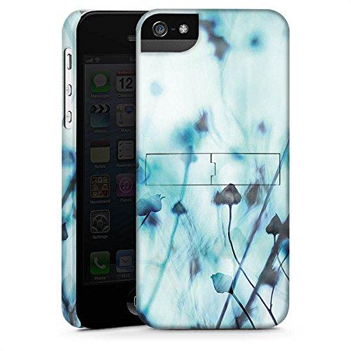 Apple iPhone 4 Housse Étui Silicone Coque Protection Nature Prairie Champ CasStandup blanc