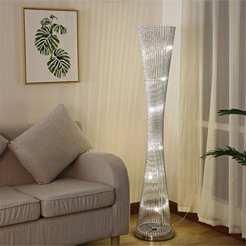 Glas 3-licht-arc (DG.99® Stehleuchte Aluminiumdraht Modern Einfach LED Vertikal Schlafzimmer Wohnzimmer Dekoration Restaurant Stehleuchte,Sliver,Remote Control Switch,3w)