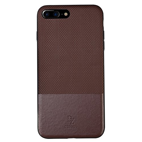 Wkae DZGOGO LUXURY Serie TPU + PC Business Style Lederbekleidung Schlagkombination Schutzhülle für iPhone 7 Plus ( Color : Red ) Brown