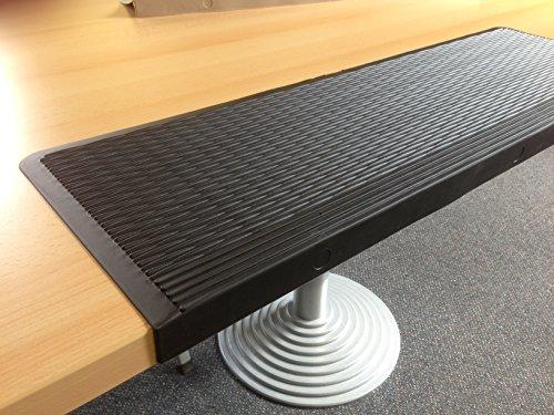 Gummi-Stufenmatten- schwarz- mit Winkelkante - zuschneidbar - 2 Stück