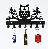 #10: Owl on Maple Trees Steel Key Holder, Steel Key Rack, Metal Key Cabinet, Owl Key hanger, Medal Hanger, Leash Hanger