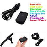 HKFV Portable USB Kabel Ladestation Dockingstation Ladegerät für ASUS VivoWatch Smart Watch ASUS ASUS VivoWatch Smartwatch Ladegerät Ladesitz