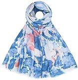 Faera Damen Schal Wasserfarben Farbverlauf weich und leicht Einheitsgröße in verschiedenen Farben, SCHAL Farbe:Blau