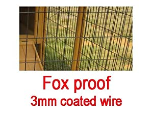Large XXL Eggshell Buckingham 8ft 100% Fox Proof 3mm Welded & Coated Wire Chicken Coop Hen House Ark Poultry Run Nest Box Rabbit Hutch 2 to 4 birds (NO SHIPING TO NORTHERN IRELAND, ISLANDS, SCOTTISH HIGHLANDS) NOW WITH FULLY COVERED ALL YEAR ROUND RUN