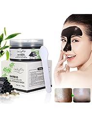 Masque Point Noir LuckyFine Bambou Charcoal Masque anti-Point Noir en Profondeur avec Spatule/ Miroir