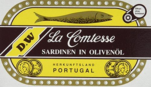 Preisvergleich Produktbild La Comtessa Sardinen in Olivenöl,  10er Pack (10 x 125 g)