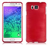 Cadorabo Coque pour Samsung Galaxy ALPHA , ROUGE CERISE Design METAL...