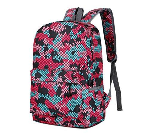 Wmshpeds Il camuffamento borsa a tracolla europei e americani zaino alla moda folle piacere semplice sacchetto selvaggio borsa da viaggio B