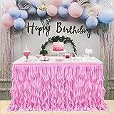 Gonna da tavola tulle,Compleanno Di Tabella Gonna,tulle tovaglia Rosa Per Tavoli Rettangoli o Rotondi,matrimonio decorazioni tavolo, battesimo bimba Princess Party Decor