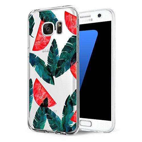 Preisvergleich Produktbild Qissy® Samsung Galaxy S6 Hülle, modischer Kasten Netter Karikatur-transparenter Kasten für Samsung Galaxy S7 (Samsung Galaxy S6, 3)