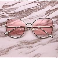 LXKMTYJ Cat's Eye Sonnenbrille kleine metallische box Tränen Gläser marine chip Sonnenbrille, Pink Mercury