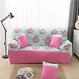 D DOLITY Moderne Stretch Sofahusse Sofabezug Sofabezüge Universal Stretchhussen für 1-3er Sitzer Sofa - Pfingstrose, 190-230cm