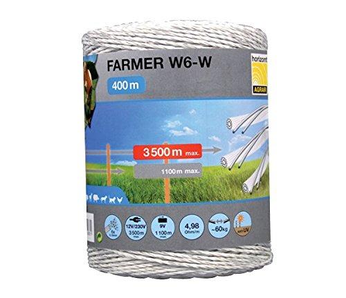 kunststoff-litze-farmer-w6-w-6-nirostaleiter-400m-spule-weiss