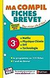 Maths, physique-chimie, SVT, technologie 3e