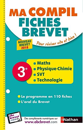 Maths, physique-chimie, SVT, technologie 3e