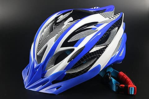 HAOXUAN Helmets Bicycle Helmet Riding Helmet Ultra-Lightweight Composite Road Vehicle Headlamps Mountain Helmets, Blue One Size