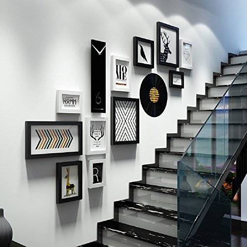 aichong treppe wand dekoration, korridor wände, kreative korridore, wand - aufkleber, wandmalereien, 3d, dreidimensionale wohnzimmer wand aufkleber,b schwarz und weiß