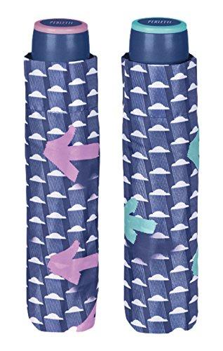 PERLETTI perletti2591754x 8cm Lady Mini 3secciones nubes y flechas impreso paraguas a...