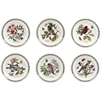 PORTMEIRION BOTANIC GARDEN BIRDS Salad plates set of 6 assorted motifs by Portmeirion