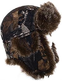 Sombrero De Aviador Con Diseño De Hojas De Otoño/Impresión De Camuflaje