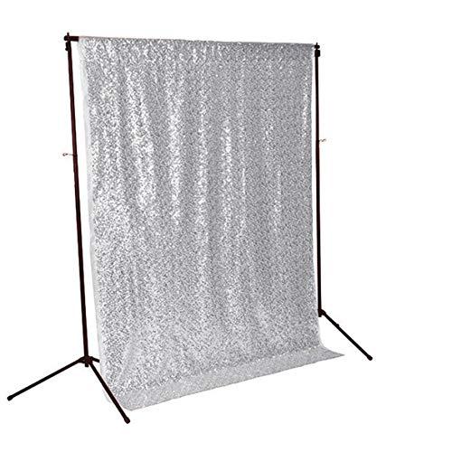 Pailletten Hintergrund Silber Fotohintergrund Glitter Hintergrund Silber Funkelnde Vorhänge C0615T ()