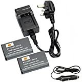 DSTE® 2x NP-BX1 Rechargeable Li-ion Battery + DC134U Travel and Car Charger Adapter for Sony Cyber-shot HDR-CX240 HDR-CX240E DSC-RX1 DSC-RX10 II DSC-RX1B DSC-RX1R DSC-RX1R/B DSC-RX100 DSC-RX100 II DSC-RX100 III DSC-RX100 IV DSC-RX100/B DSC-RX100M2 DSC-RX100M2/B DSC-RX100M3 DSC-HX300 DSC-H400 DSC-HX400 DSC-HX50 DSC-HX50V/B DSC-HX50VB DSC-HX60 DSC-HX60V DSC-WX300 DSC-WX300/B DSC-WX300/L DSC-WX300/R DSC-WX300/T DSC-WX300/W DSC-WX350 HDR-MV1 HDR-AS15 HDR-AS15B HDR-AS15S HDR-AS100V HDR-AS100VR HDR-AS20 HDR-AS30V HDR-AS10 HDR-GW66 HDR-GW66V HDR-GW66VE HDR-GWP88 HDR-GWP88V HDR-GWP88VB HDR-GWP88VE HDR-PJ240E HDR-PJ275 Camera as NP-BX1/M8