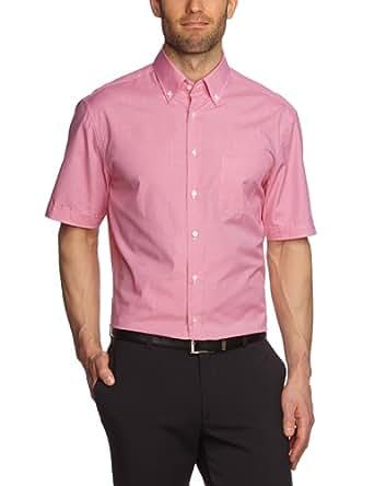 Jacques Britt Herren Businesshemd Regular Fit, kariert 20.736501-43, Gr. 39, Pink (Vichy lachs)