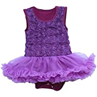San Bodhi® Baby Princess rose Flower Lace tutu abito senza maniche Ballet Ruffle Dress
