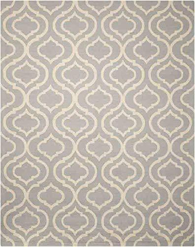 Nourison Teppich Mondrian 99446280077-Licht blau handgewebt Teppich, blau 3Ft 9Zoll x 5ft 9Zoll - Nourison Teppich Blau