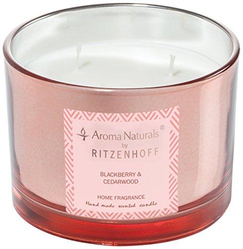 Scheda dettagliata RITZENHOFF 5080004 Aroma Naturals Luxury Candela Profumata, Nero/Rosa, 11 x 11 x 8 cm