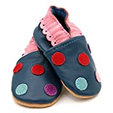 Dotty Fish Soft Leather Baby Shoes. Toddler Shoes. Girls. Multi-Coloured Spotty Designs. Newborn to 4-5 Years