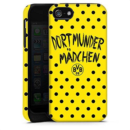 Apple iPhone X Silikon Hülle Case Schutzhülle Dortmunder Mädchen Borussia Dortmund BVB Tough Case matt