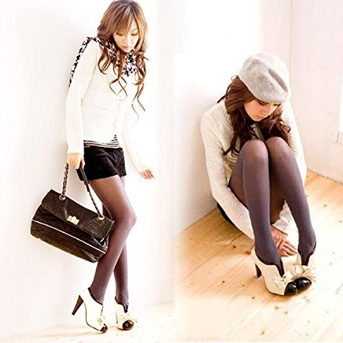 Minetome Damenschuhe Vintage Bogen Pumps High Heels Beige Creme Ankle Boots Stiefeletten Stilettosabsatz Winterstiefel ( EU 39 ) - 3