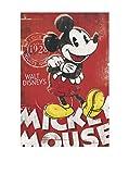 Artopweb EC22258 Mickey mouse unique since 1928 Panneau décoratif Bois Multicolore 60 x 1,8 x 90 cm
