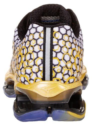Mizuno Wave Prophecy 3Herren Laufschuhe Trainer UK Größen White/Yellow/Black