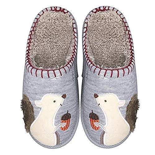 Treslin Hombre/Mujer Zapatillas Fluff Antideslizantes,Zapatillas de Animales Lindas...