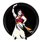 """KOLORBIA DANCES OF INDIA KATHAK INSPIRED HOME DÉCOR WALL PLATE 10"""""""