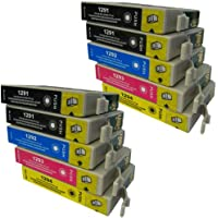 10 CiberDirect High Capacity Compatible Ink Cartridges for use with Epson WorkForce WF-3520DWF Printers.