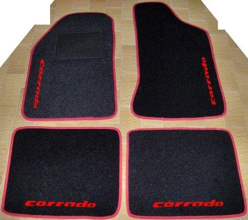 r Auto, Komplettset-Gummimatten passgenau mit Stickerei rot ()