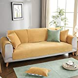LJ-SFJ Wildleder Wasserdicht Sofa Decken Anti-rutsch Couch möbelabdeckung Geldklammer Urin zu verhindern Kein austreten Sofa Handtuch Dick Sofabezug-Gelb 70x150cm(28x59inch)